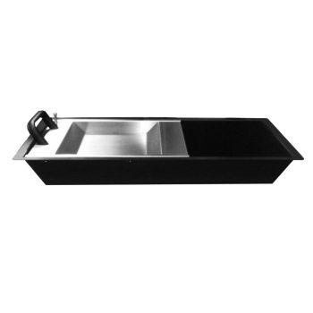 Dupla funkciós átadótálca 40 mm mély, PIN-pad átadóval + gördülő pénzátadó tálcával