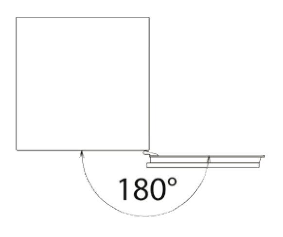 180 fokig nyitható páncélszekrény ajtó