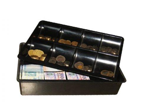 Plastic cash box