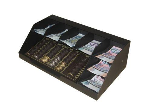 7 rekeszes bankjegytároló érmetálcával (BET-7) - Strauss Metal