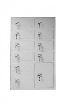 Értéktároló szekrény 12 rekesszel - Strauss Metal