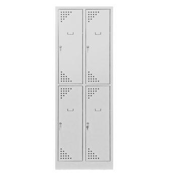 Öltözőszekrény 4 rekeszes 4 rövid ajtós