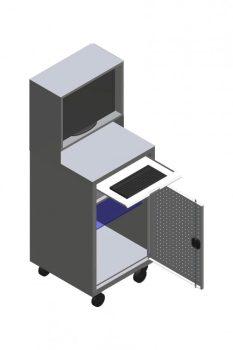 Guruló számítógépes tároló szekrény
